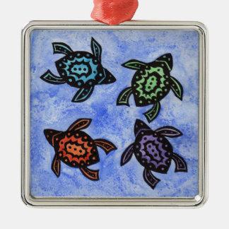 Tortugas abstractas coloridas adorno de reyes
