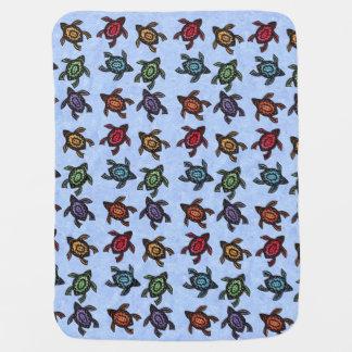 Tortugas abstractas coloridas de la natación manta de bebé