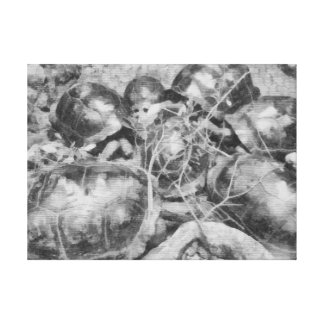 Tortugas agrupadas juntas impresión en lona