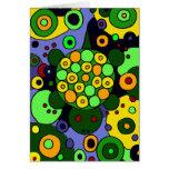 Tortugas coloridas y arte abstracto de los círculo felicitaciones