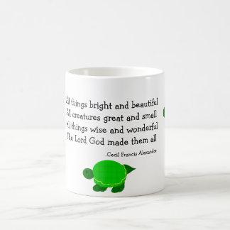 Tortugas con cita inspirada taza básica blanca