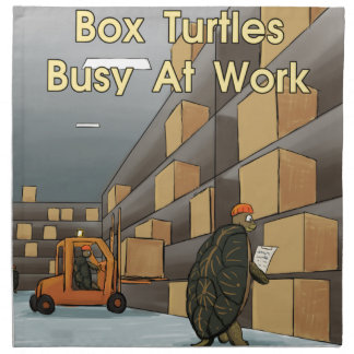 Tortugas de caja divertidas en el trabajo