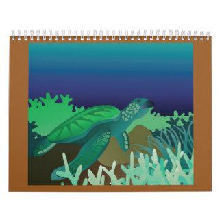 Tortugas de Hawaii Calendario