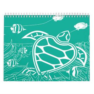 Tortugas de Hawaii Calendarios
