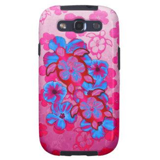 Tortugas de Honu y flores tropicales del hibisco Samsung Galaxy SIII Funda