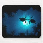 Tortugas de mar alfombrillas de ratón