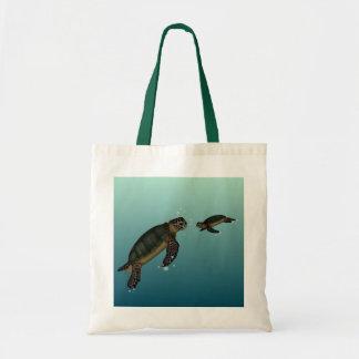 Tortugas de mar bolsa tela barata