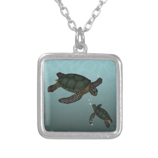 Tortugas de mar colgante cuadrado