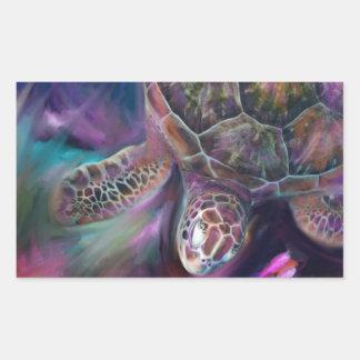 Tortugas de mar del Caribe Pegatina Rectangular