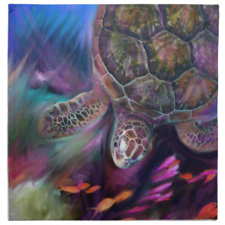 Tortugas de mar del Caribe Servilleta