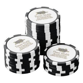 Tortugas de mar juego de fichas de póquer