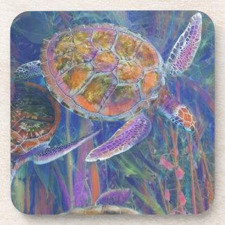 Tortugas de mar místicas posavasos