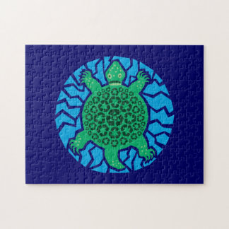 Tortugas de mar, reciclando puzzle con fotos