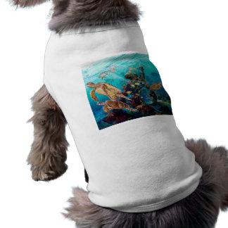 Tortugas de mar camiseta sin mangas para perro