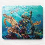 Tortugas de mar tapete de raton