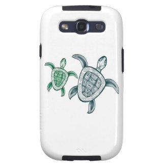 Tortugas de mar verde de Hawaii Galaxy SIII Protectores