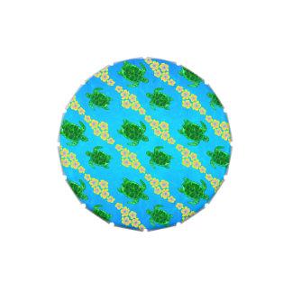 Tortugas de mar verde frascos de caramelos