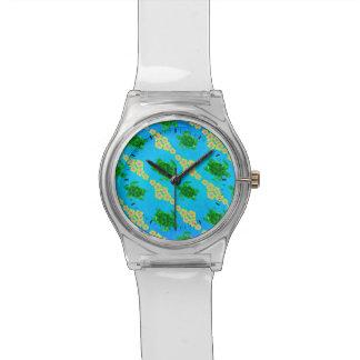 Tortugas de mar verde relojes de pulsera