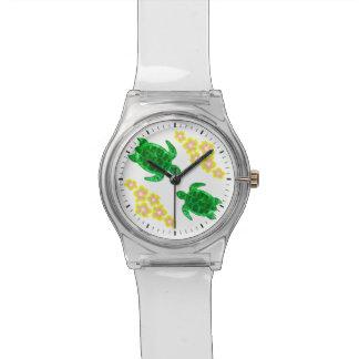 Tortugas de mar verde reloj