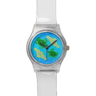 Tortugas de mar verde relojes de mano