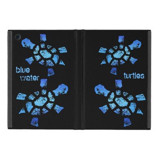 Tortugas del agua azul iPad mini funda