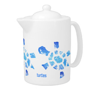 Tortugas del agua azul medias