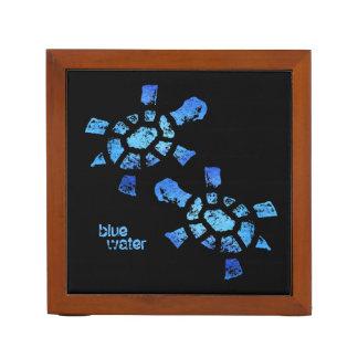 Tortugas del agua azul portalápices