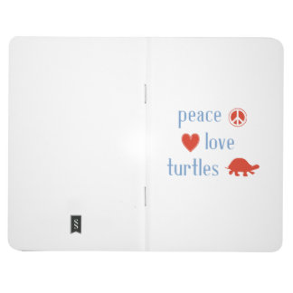 Tortugas del amor de la paz cuadernos