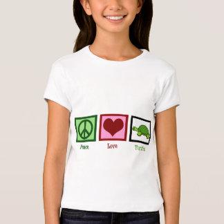 Tortugas del amor de la paz playeras