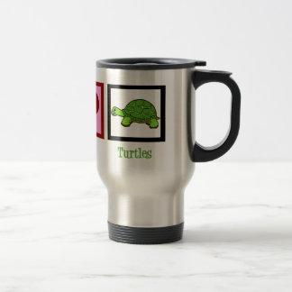 Tortugas del amor de la paz tazas de café