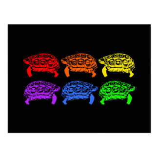 Tortugas del arco iris postales