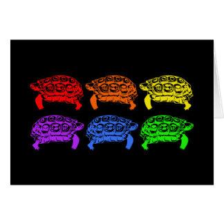 Tortugas del arco iris tarjeta de felicitación
