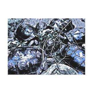Tortugas en una reunión lienzo envuelto para galerias