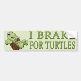 Tortugas lindas - freno de I para las tortugas Etiqueta De Parachoque