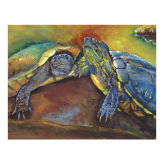 Tortugas pintadas plantilla de membrete