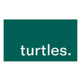 tortugas tarjetas de visita
