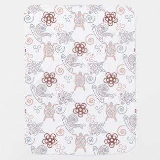 Tortugas y caracoles Doodlely 2 - manta del bebé Mantitas Para Bebé