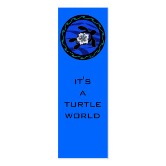 tortugas y hibisco tarjetas de visita mini