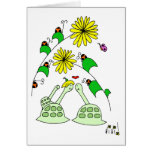 tortugas y insectos de la señora tarjetas