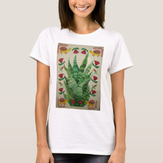 tortugas y tulipanes abstractos del áloe playera