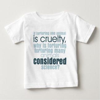 Tortura animal playera de bebé