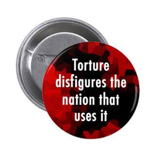 Torture Disfigures Button