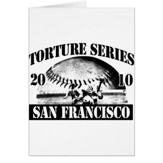 Torture Series Baseball 2010 San Francisco Card