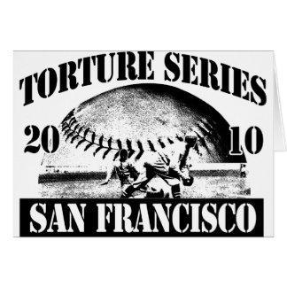 Torture Series Baseball 2010 San Francisco Giants Greeting Card