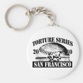 Torture Series Baseball 2010 San Francisco Giants Basic Round Button Keychain