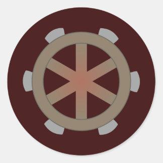 Torture wheel Katharinenrad torture Catherine whee Classic Round Sticker