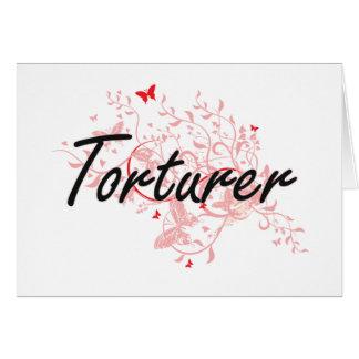 Torturer Artistic Job Design with Butterflies Card