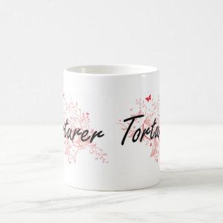 Torturer Artistic Job Design with Butterflies Coffee Mug