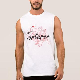 Torturer Artistic Job Design with Butterflies Sleeveless Tee