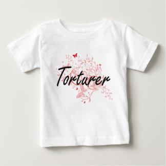 Torturer Artistic Job Design with Butterflies T-shirt